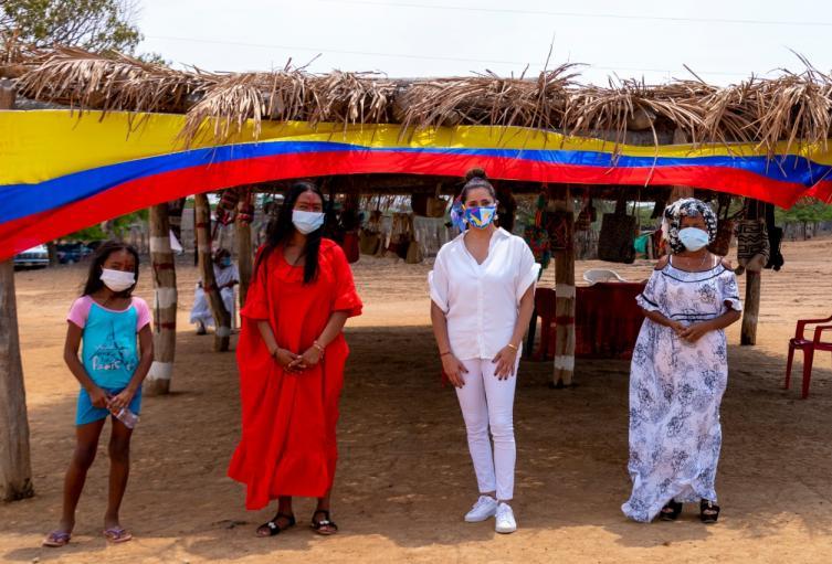 Primera dama en La Guajira