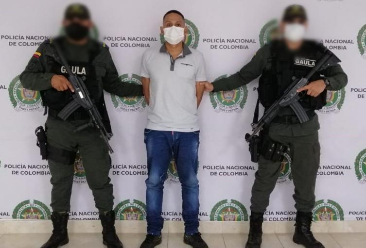 La captura se llevó a cabo en Montería.