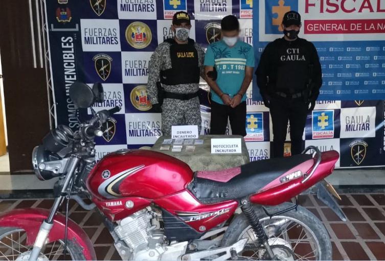 Cuando recibía dinero producto de una extorsión a una mujer, un sujeto fue capturado por parte del Gaula Y el CTI en Corozal, Sucre