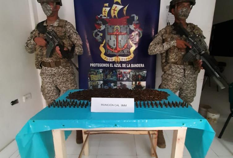 Armada Nacional incauta material de guerra,en área general de Cerro Naranjo del corregimiento de Don Gabriel, en zona rural del municipio de Ovejas - Sucre.