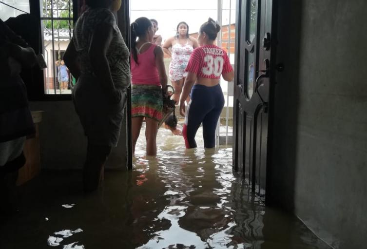 Desbordamiento lluvias Barranquilla