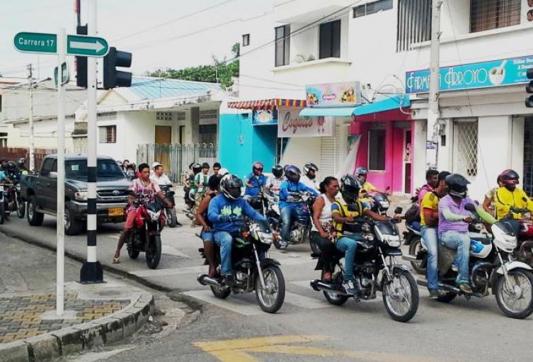 Un grupo de mototaxistas resultaron contagiados con COVID-19.
