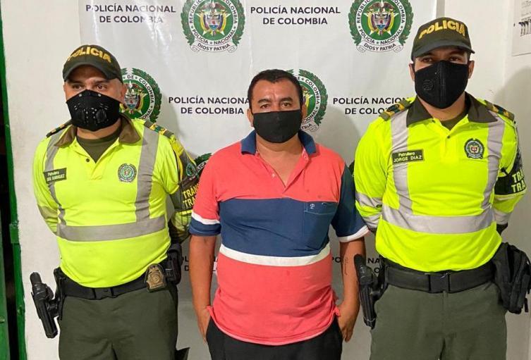 El conductor fue capturado por la Policía.