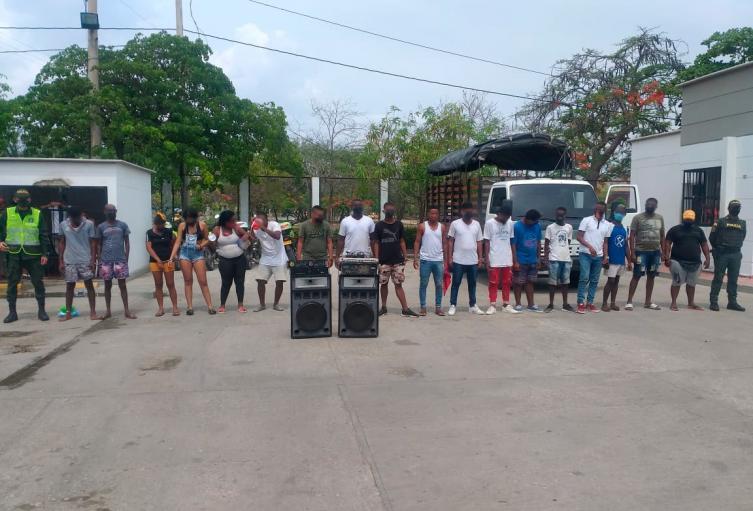 Durante el toque de queda fueron atendidas 131 por riñas y 336 por fiestas clandestinas en Cartagena