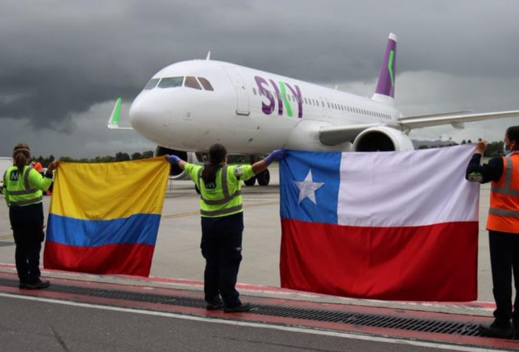 Vuelo humanitario desde Chile