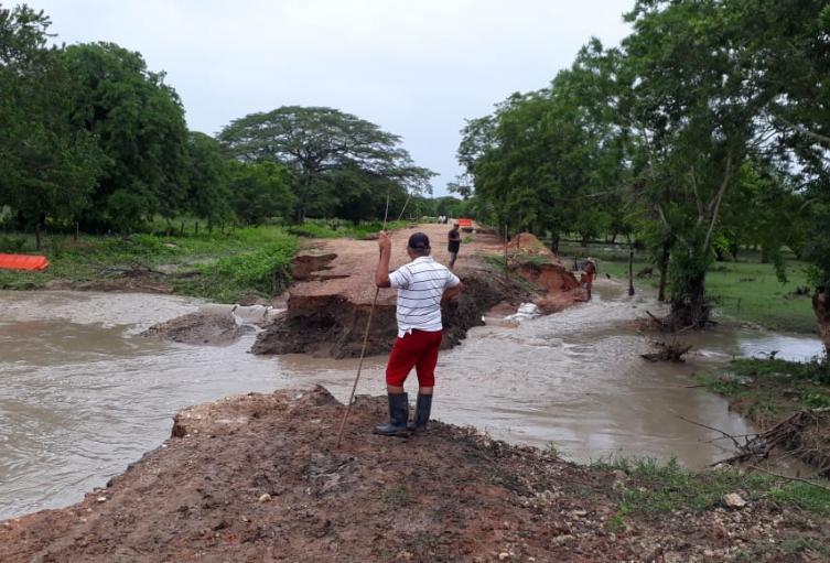 Las lluvias caidas en el departamento de Sucre en estos dìas,han producido daños en distintos municipios