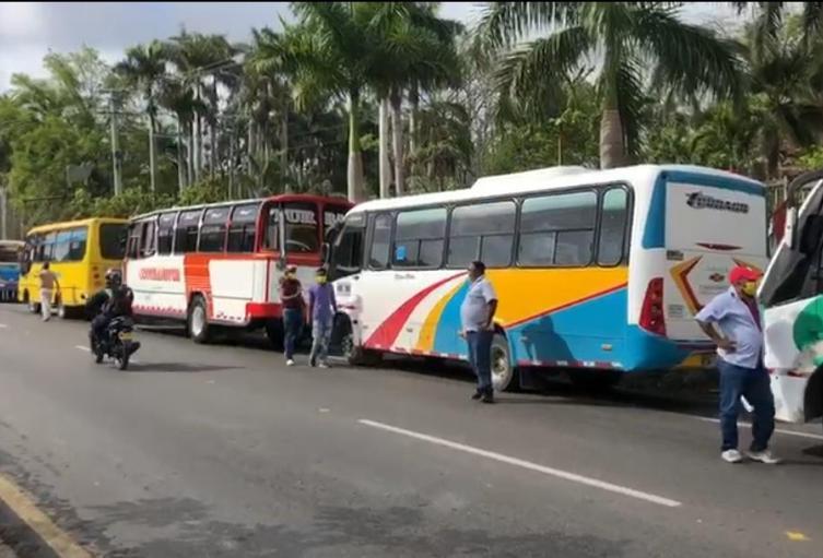 protesta buses bolívar