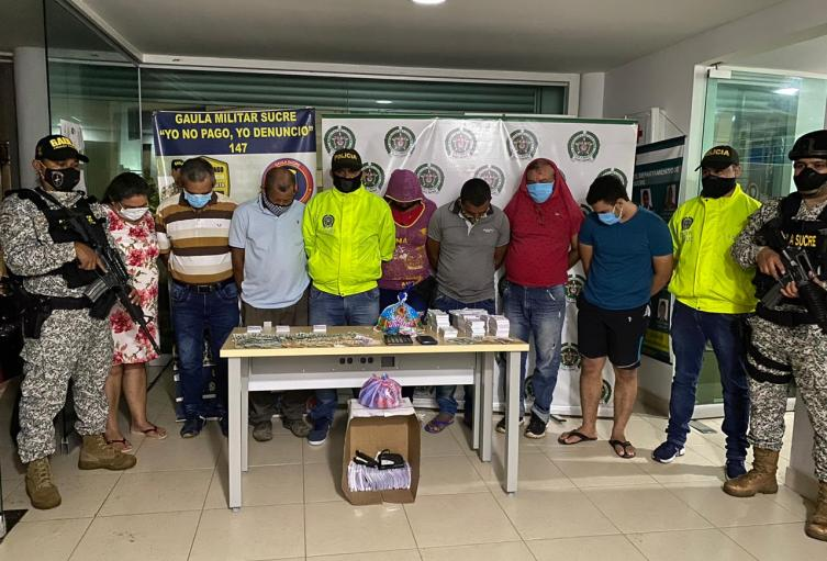 Policìa captura a siete personas en San Pedro, Sucre por el delito de chance ilegal