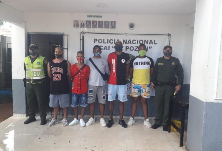 En una de las instalaciones de la Policía Metropolitana ubicada en el barrio El Pozón