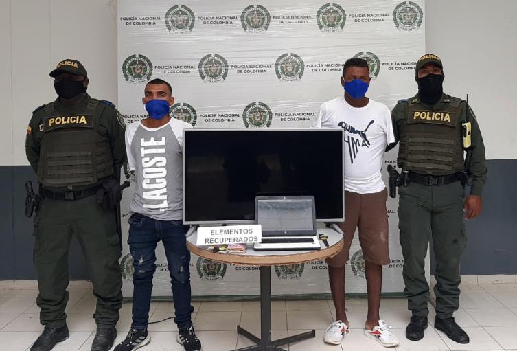 Carlos Andrés Pérez Barrios, de 27 años y Máximo Aparicio Ortega, de 33. Capturados