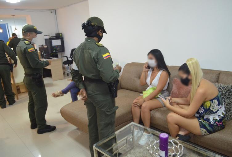 Capturaron a seis a Webcam porque no cumplían con protocolos de bioseguridad en Cartagena