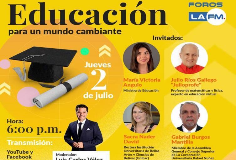 El periodista y director de La FM Luis Carlos Vélez, será el modera