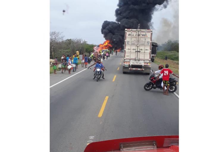 Accidente Camión Cisterna