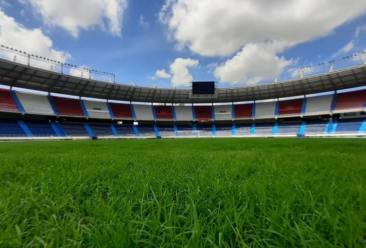 Grama estadio Metropolitano