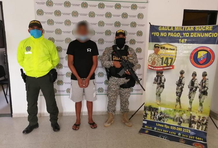 Armada de Colombia y Policía Nacional capturan a cabecilla de comisión del clan del golfo en Sucre