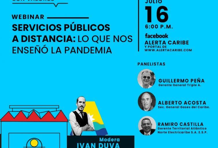 Webinar Servicios Públicos a Distancia: 'Lo que nos enseñó la pandemia'