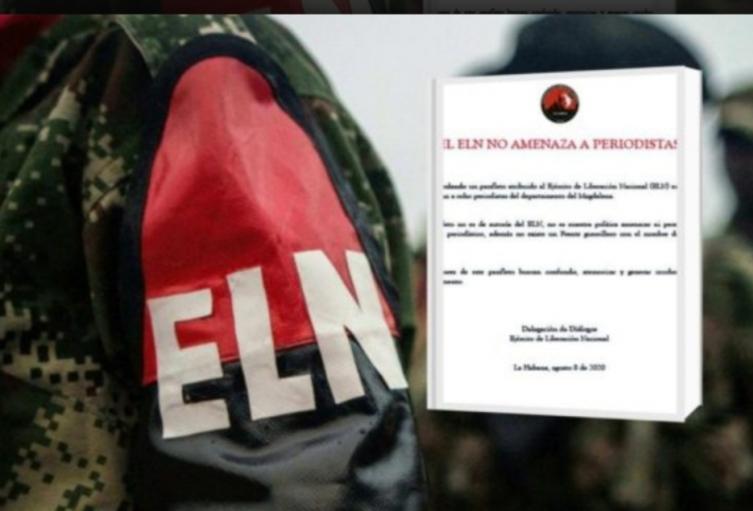 En comunicado de prensa el ELN aseguró que no hizo amenazas