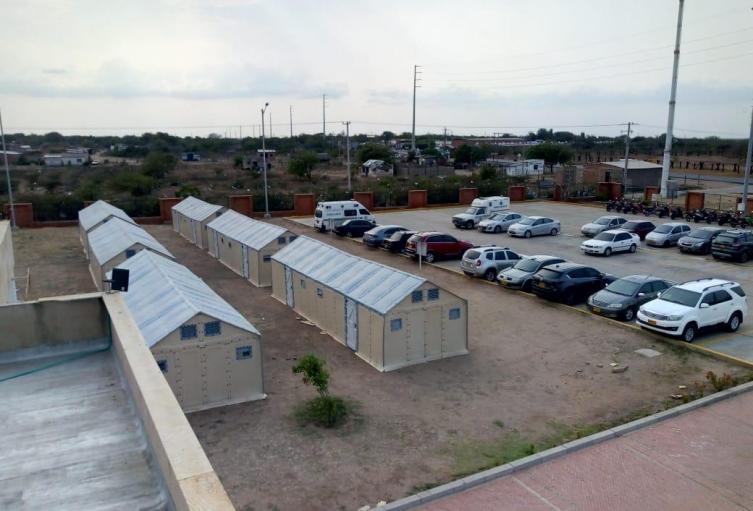 El campamento atenderá a cerca de 66 afectados de Covid19