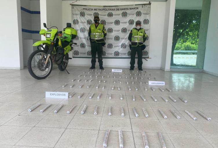 Policía, Ciénaga, Magdalena, Santa Marta, Explosivos