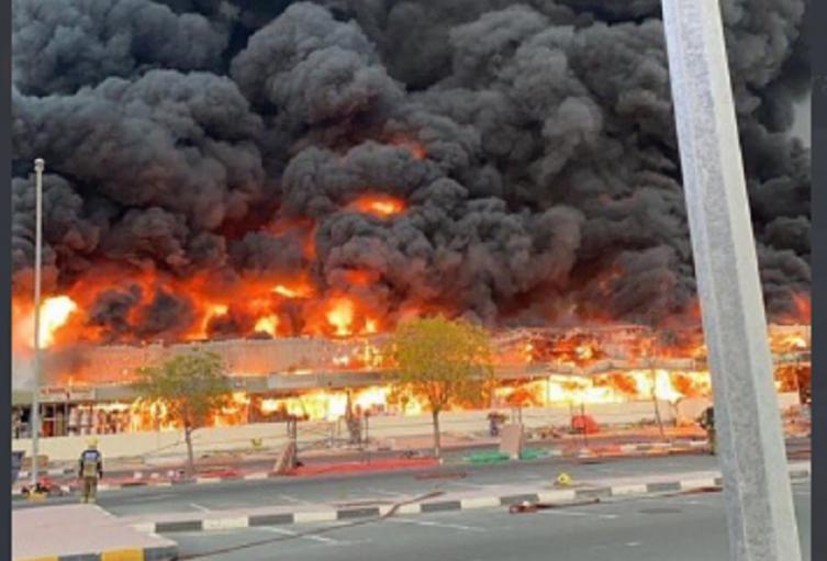 Incendio en Ajmán