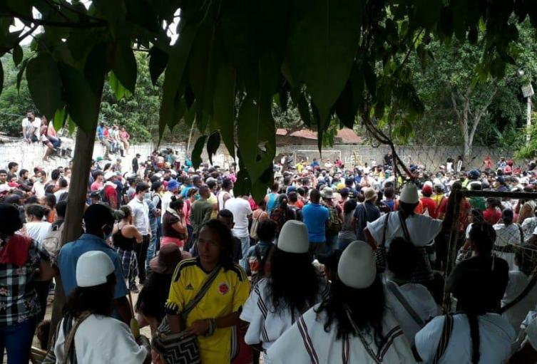 cientos de personas llegaron a invadir la Sierra Nevada, las autoridades indígenas piden la compañía del gobierno Nacional