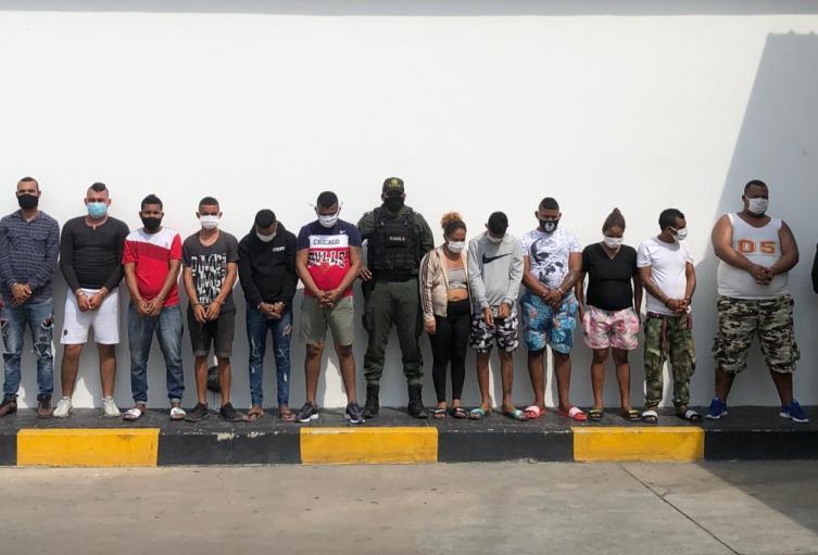 Presuntos integrantes de 'Los Costeños'