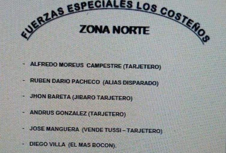 Los panfletos fueron hallados en Puerto Colombia