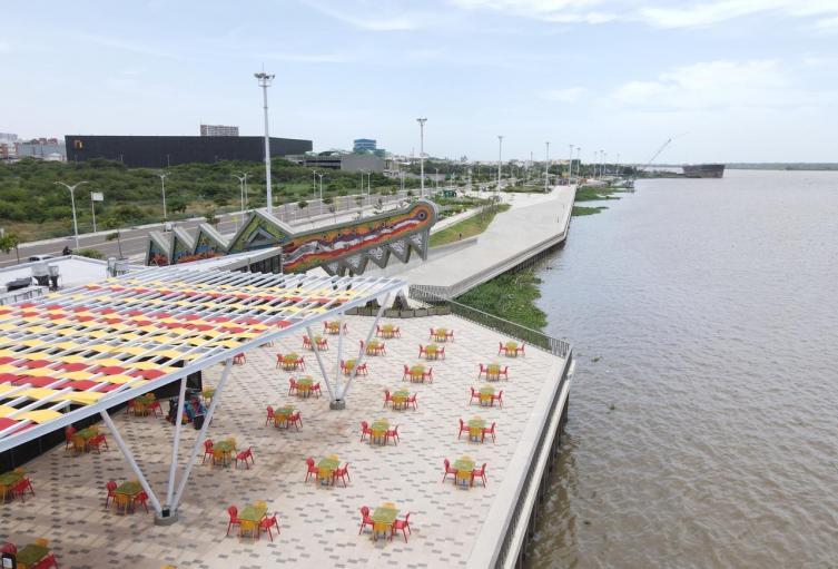 Barranquilla ha invertido en la recuperación de los espacios junto al río.