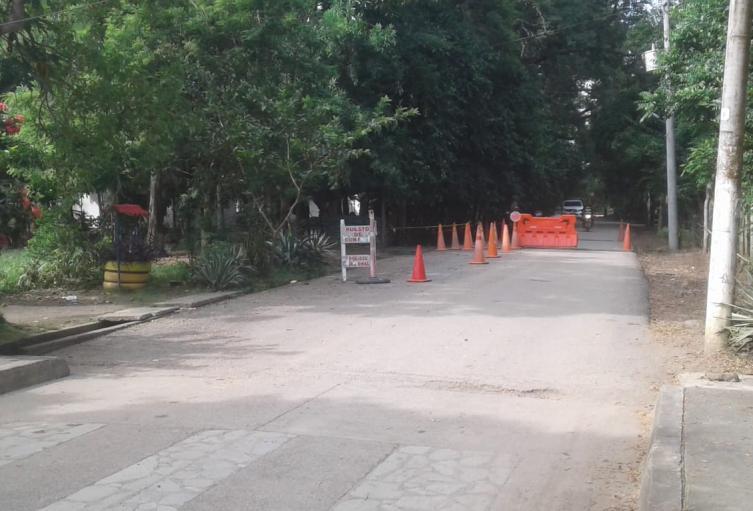 Calle principal de El Sabanal