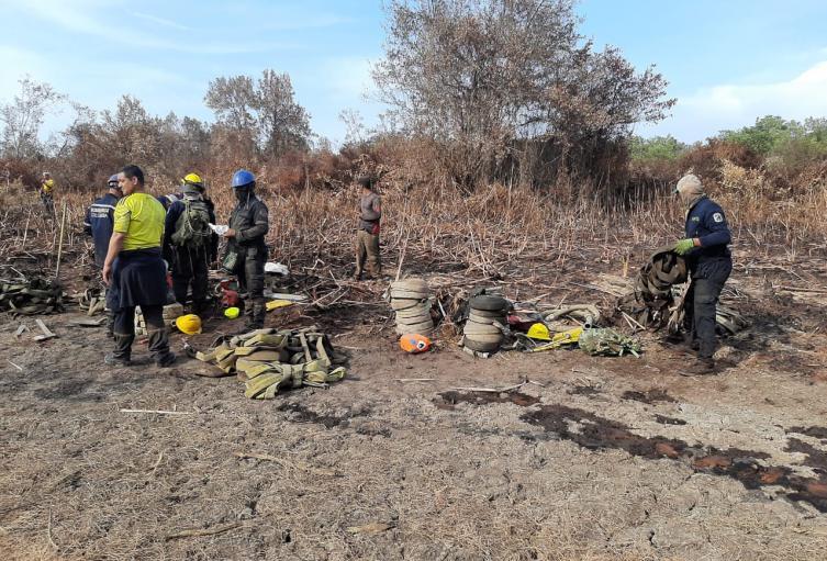 Medidas para contrarrestar incendios forestales en el Parque Isla de Salamanca