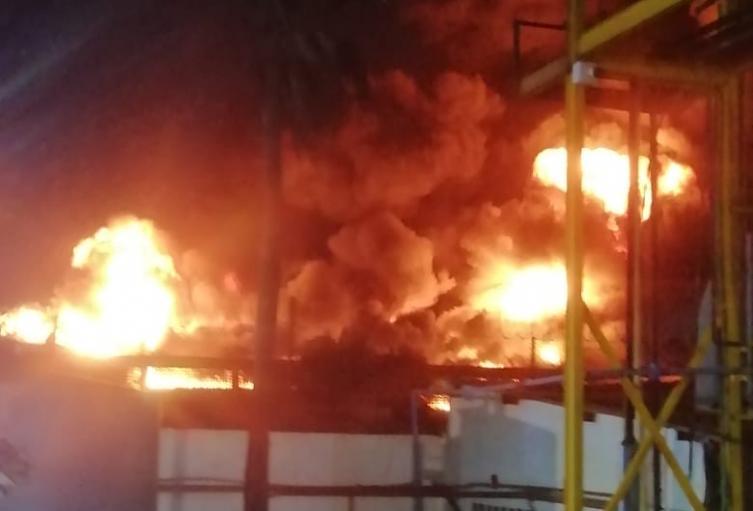 Incendio en Barranquilla.