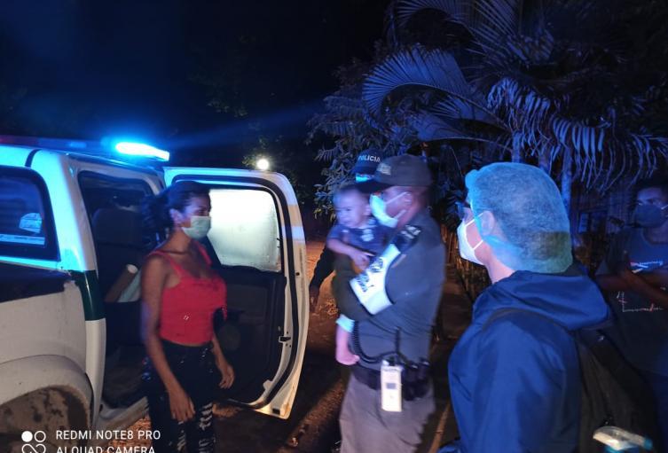 Policía rescata a niño en el municipio de Tolú,que había sido raptado por su padre en Sincelejo
