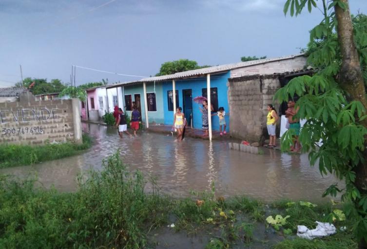 Los habitantes sufrieron inundaciones en sus casas.