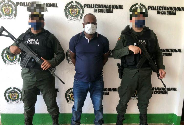 """Policía Nacional en Sucre captura a Alias """" Negro Mocho"""" presunto cabecilla del Clan del Golfo"""