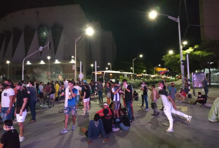 Protesta contra la violencia de la fuerza pública