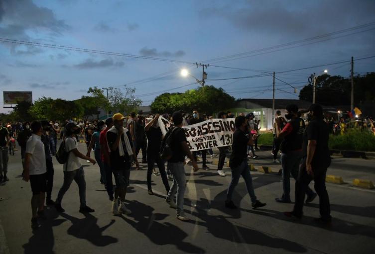 Disturbios al final de marcha de protesta en Barranquilla