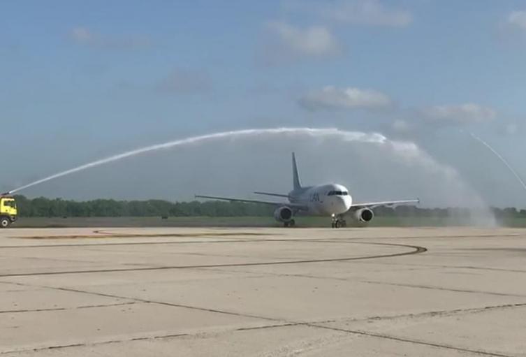 Primer aterrizaje en Barranquilla.