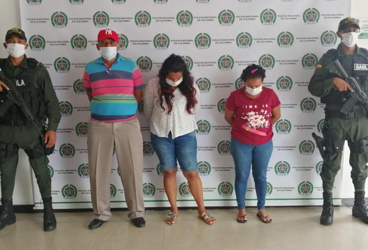 Por secuestro y extorsión fueron capturadas dos personas en Sucre y cinco mas en el resto del país.