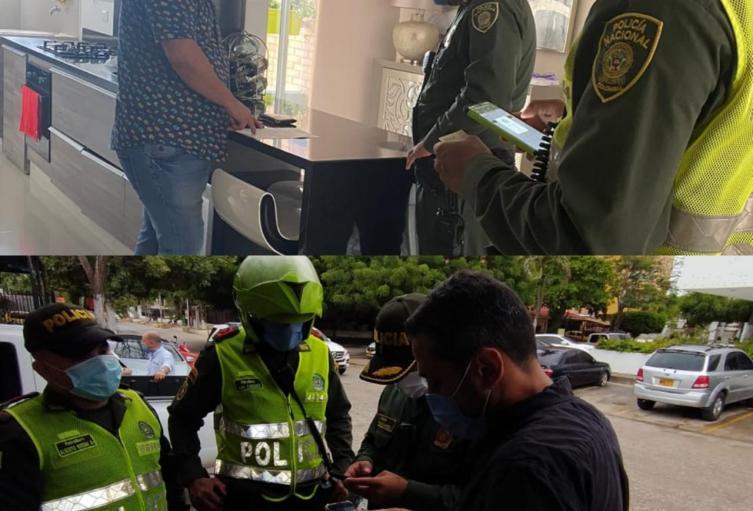Sancionados por la policía Fiesta Barranquilla