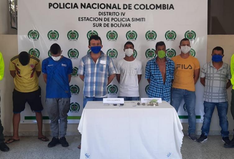 Desarticulan banda dedicada al tráfico y comercialización de estupefacientes en el Sur de Bolívar