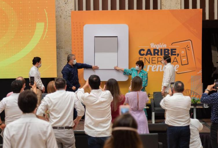 Presidente en Cartagena con el nuevo operador de energía