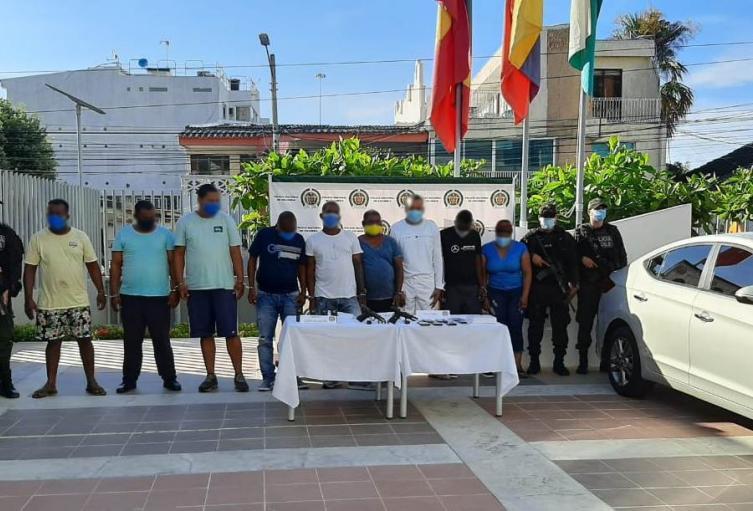 Estarían al servicio del Clan del Golfo en Cartagena