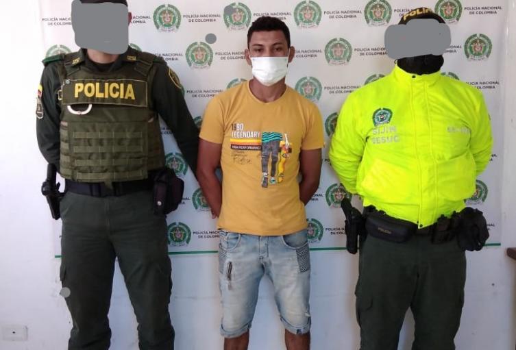 Por el delito de hurto calificado y agravado ,Policía Nacional en Sucre, capturó a presunto delincuente en el municipio de Los Palmitos