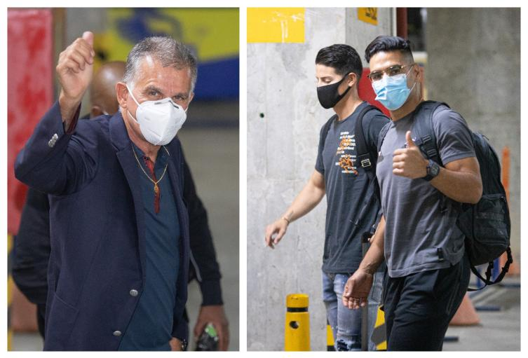Llegada de Falcao, James y Queiroz a concentración de la Selección Colombia en medio de pandemia