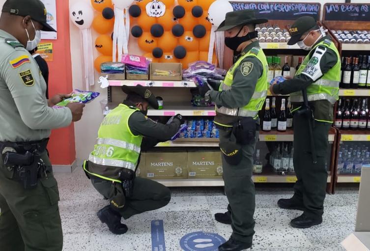 La Policía del Atlántico realiza operativos.