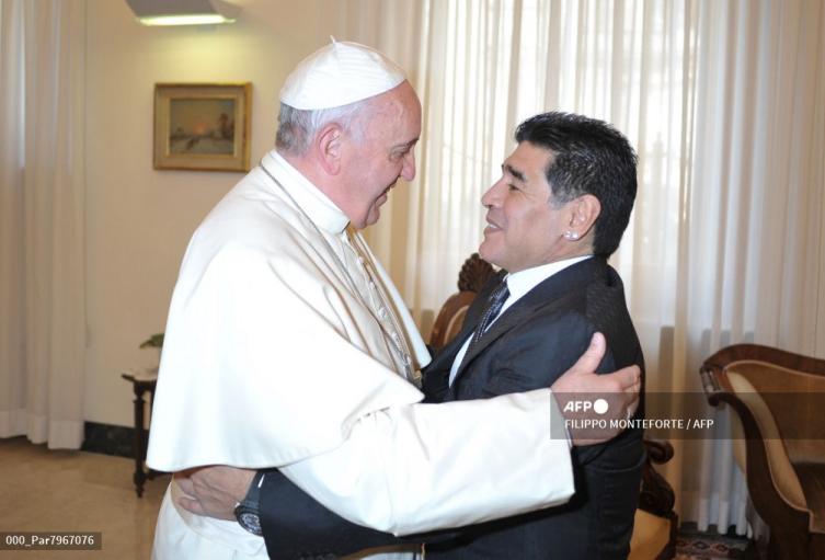 Maradona y Papa