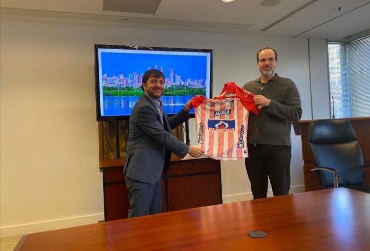 Alcalde Jaime Pumarejo y presidente del BID Mauricio Claver-Carone.