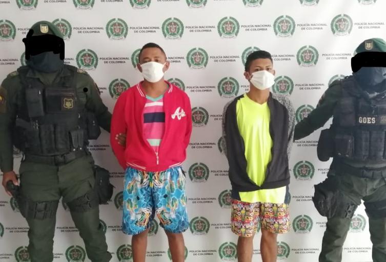 Capturados dos presuntos integrantes del Clan del Golfo en Sincelejo
