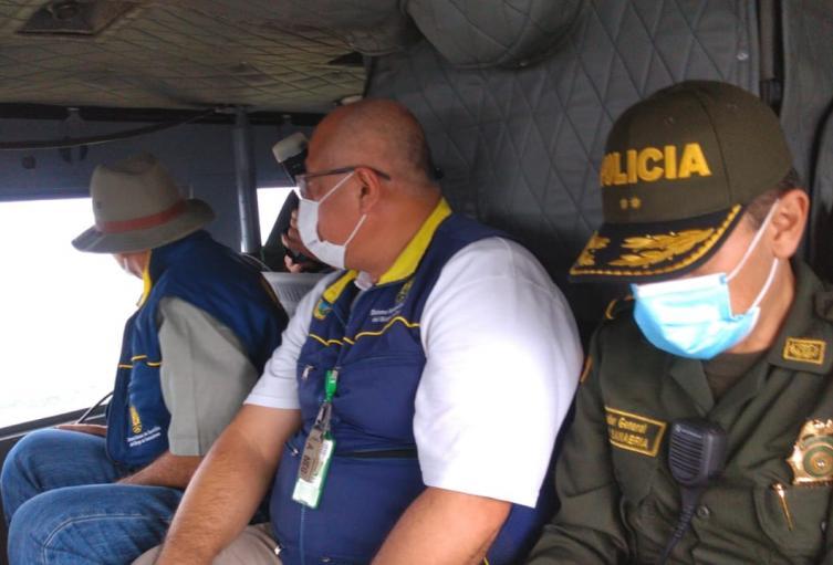 Para evaluar la situación por las inundaciones y deslizamientos