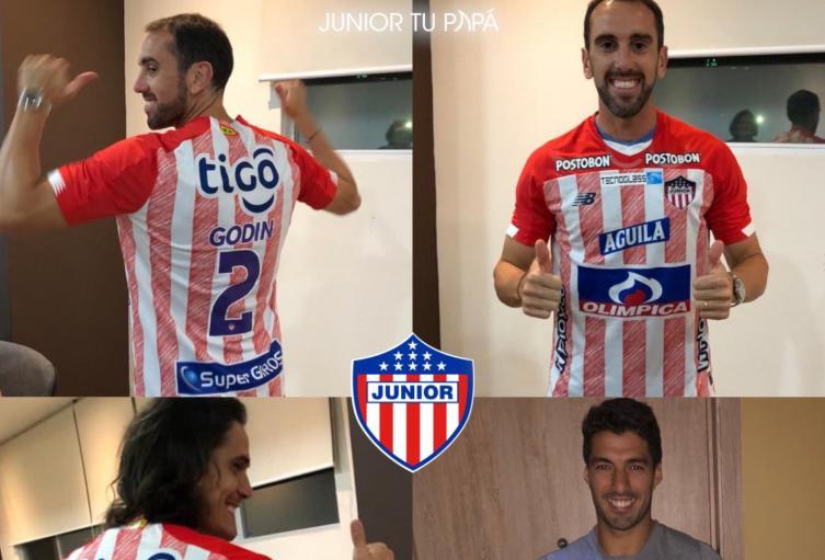 Godín, Cavani y Suárez